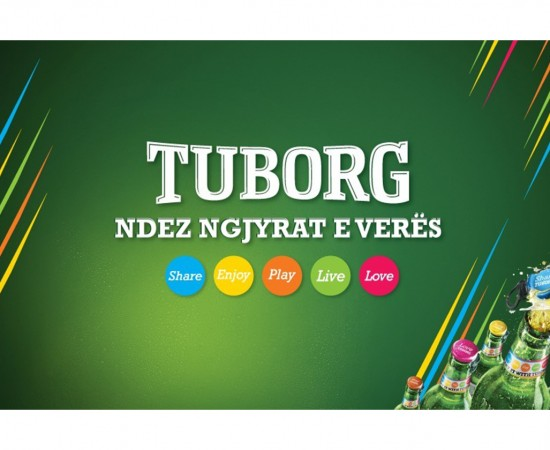 Tuborg lights up your summer colors