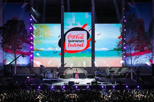 Coca-Cola Summer Fest 2017 - the stage