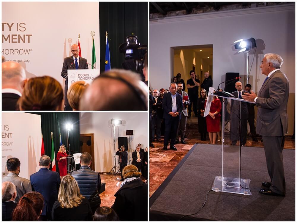AICS Tirana Doors of Tomorrow PR event