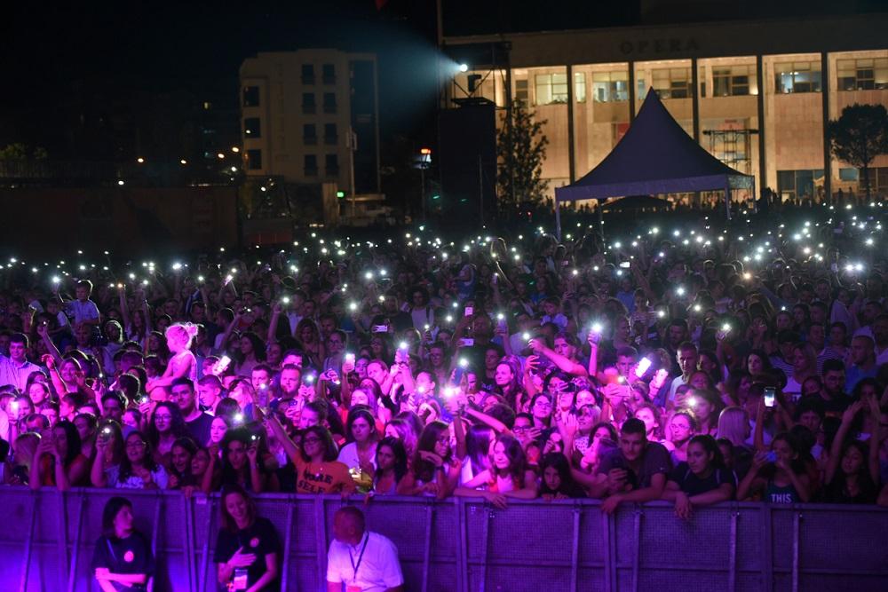 Coca-Cola Summer Fest 2018 public in Skanderbeg square
