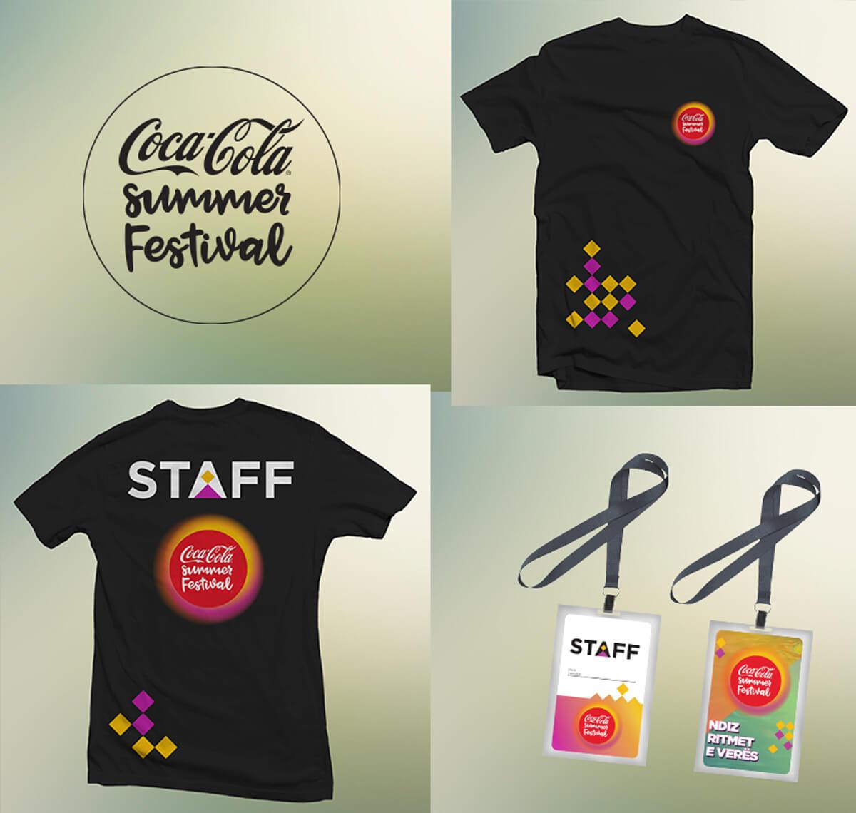 Coca-Cola Summer Fest 2018 branding mockups