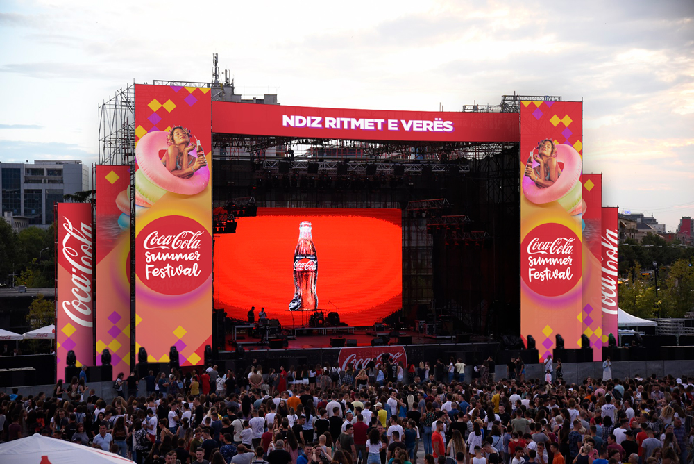 Coca-Cola Summer Fest 2018 stage