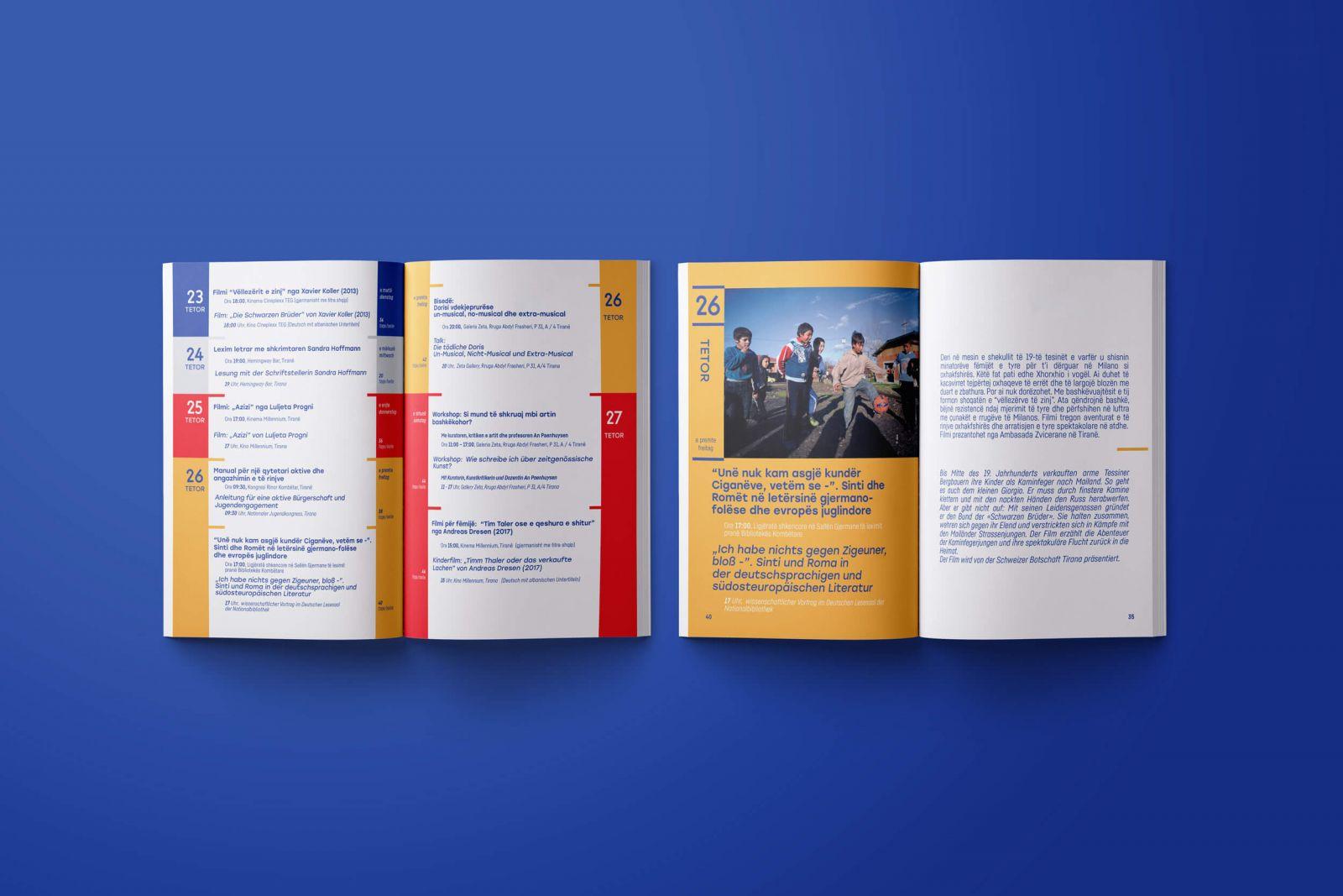 German October 2018 booklet opened