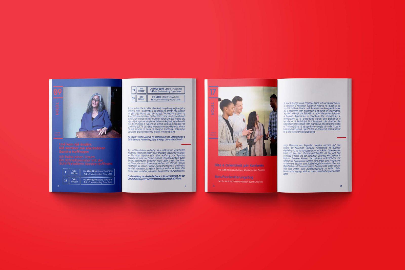 German October 2018 booklet branded pages