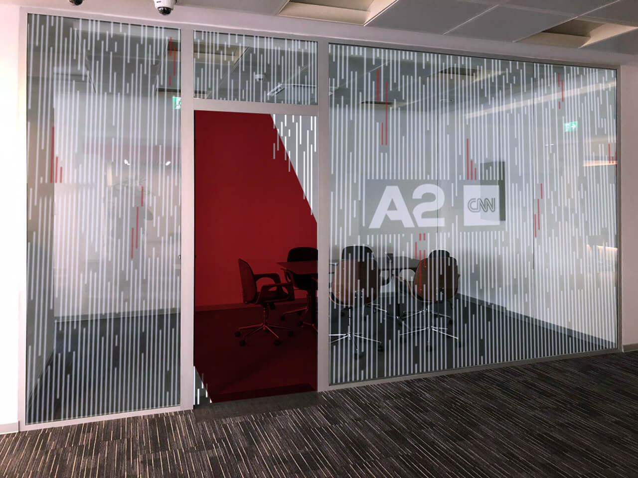 CNN A2 News Meeting Room Branding