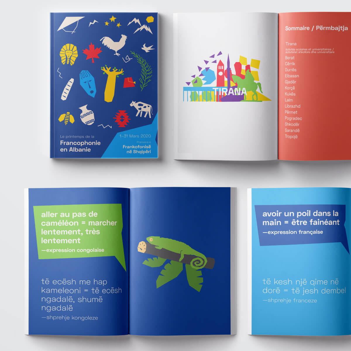 Le printemps de la Francophonie en Albanie 2020 | Booklet side