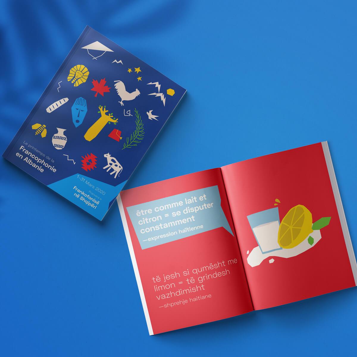 Le printemps de la Francophonie en Albanie 2020 | Booklet cover