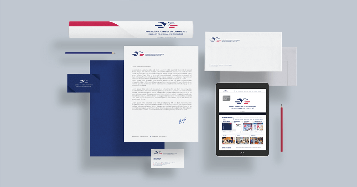 amcham new logo stationery