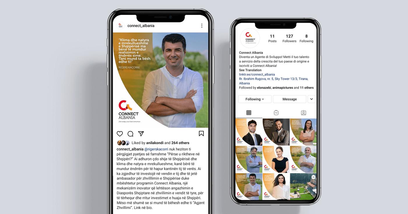 connect albania social media