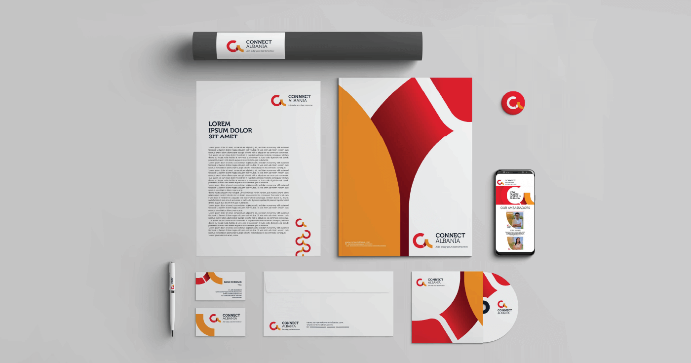 connect albania stationery