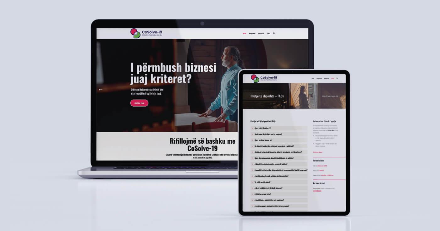 cosolve-19 website